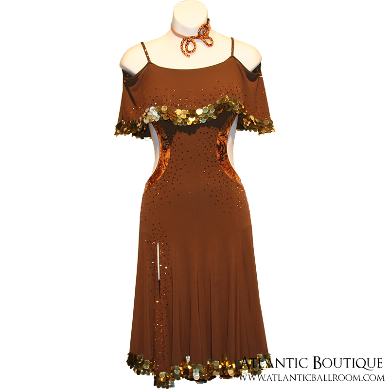 Brown Latin Dress Size 4-6