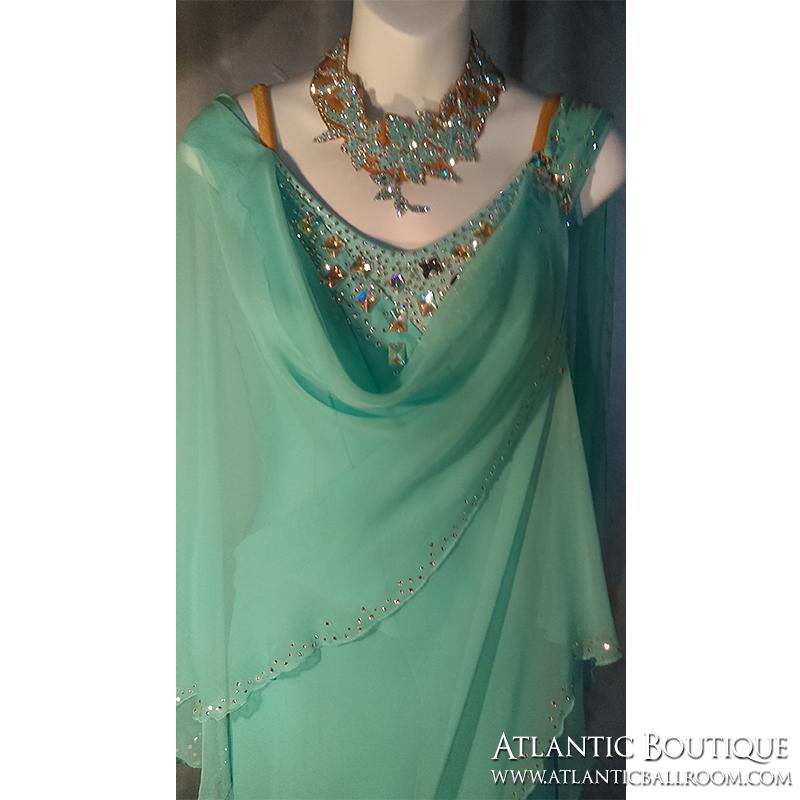 Teal Blue Standart Dress Size 4