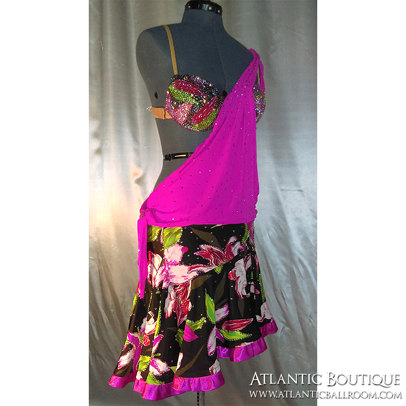 Hot Pink Latin Dress Size 4-6