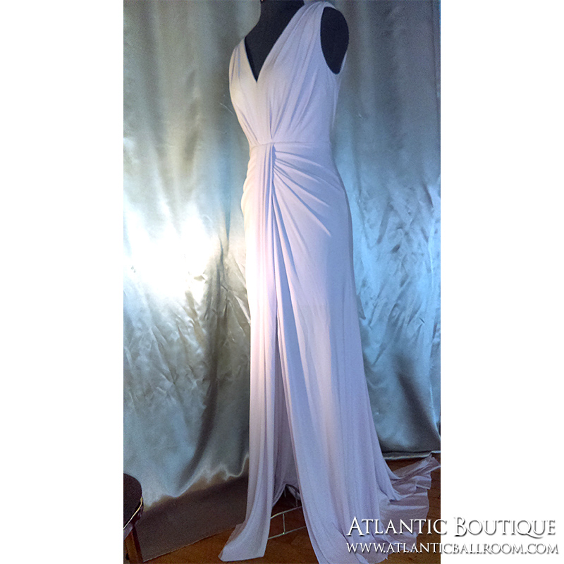 White Vera Wang Cocktail Dress with Slit Size 4-6