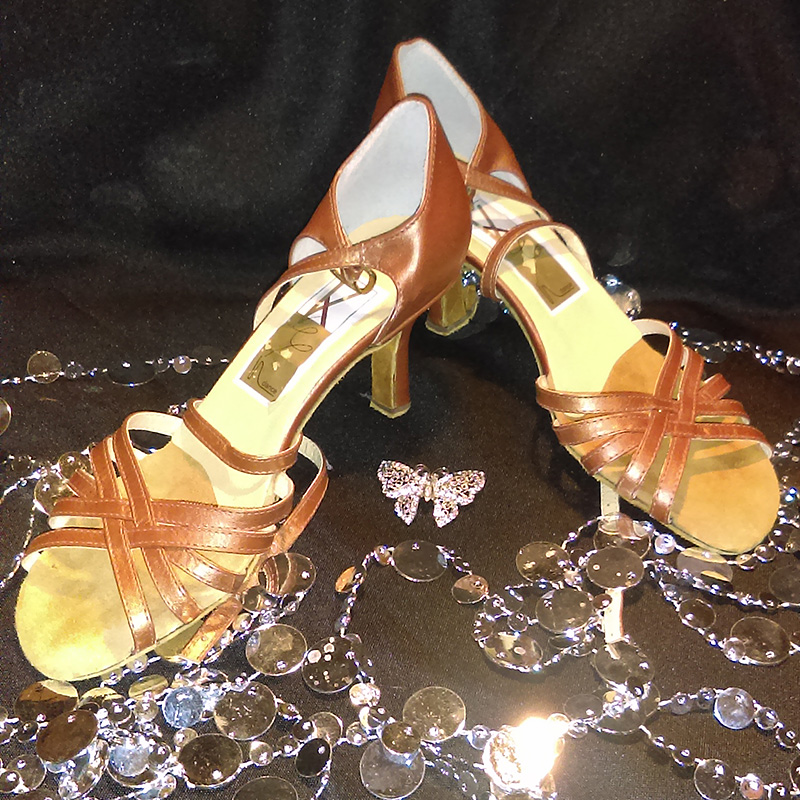 Brown Leather Dance Shoes