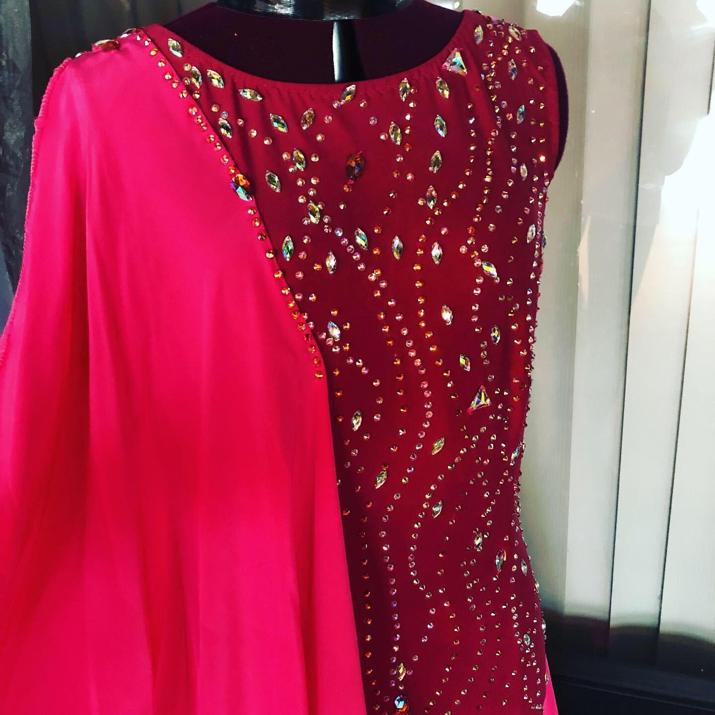 Burgundy Standart or smooth dress