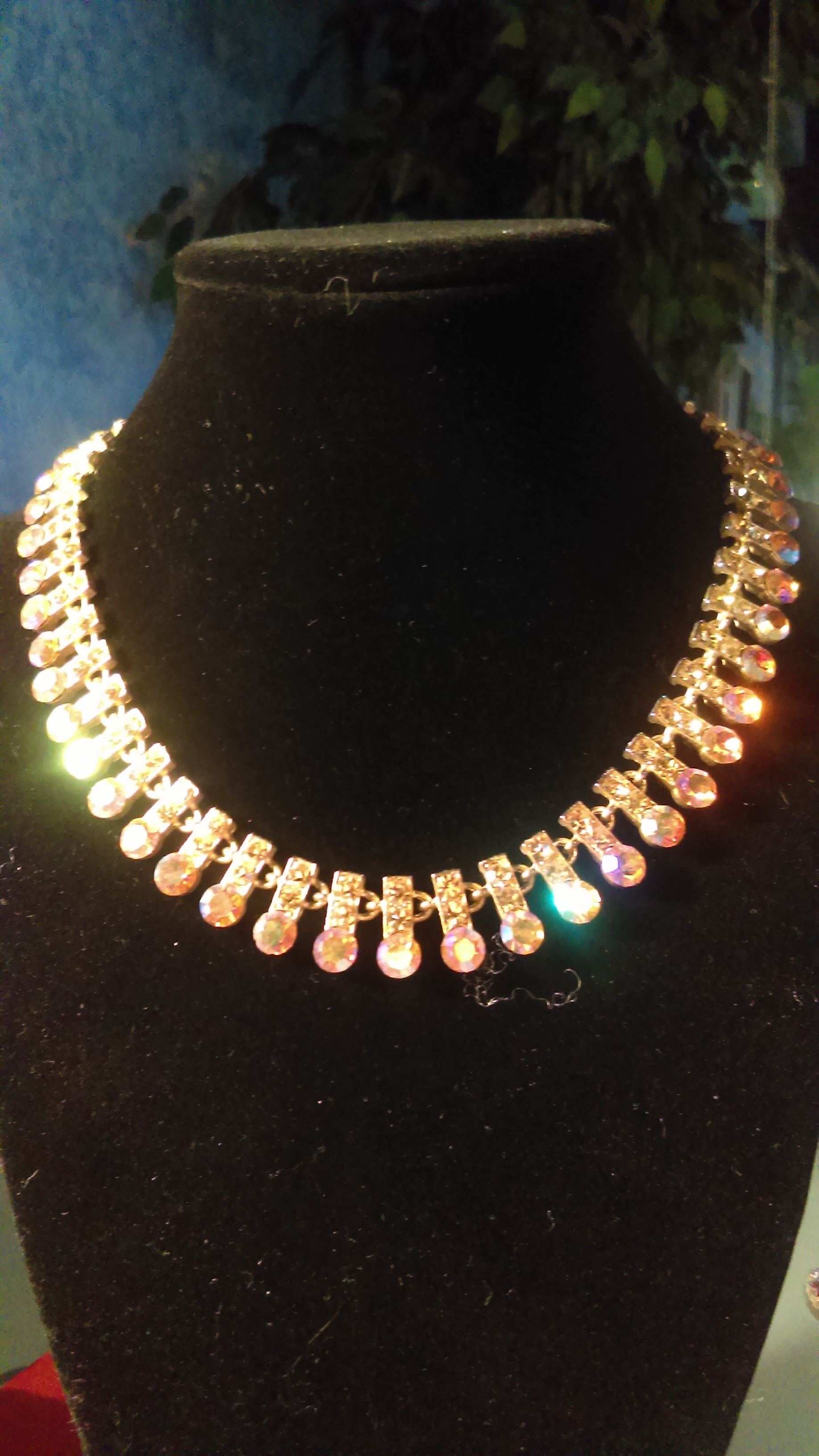 Gold swarovsky  necklace